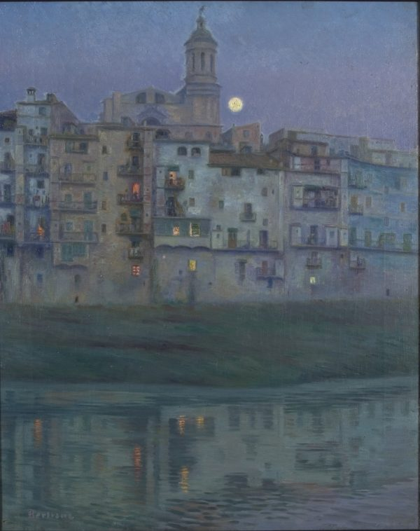 'NIt de lluna', una de las obras que se exponen en la exposición de Bertrana.