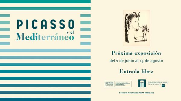 Cartel de la exposición sobre Picasso en la Fundación Canal