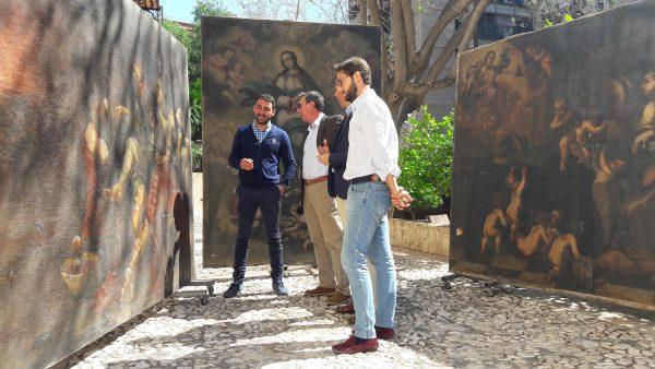 Presentación de las tres obras que serán restauradas por el Ayuntamiento de Lorca.