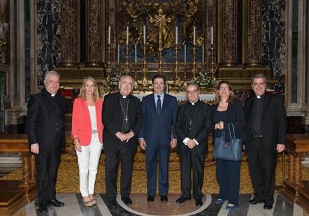 Momento de la reunión mantenida en Santa María la Mayor de Roma. Fundación Endesa.
