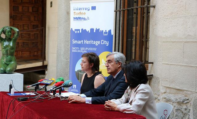 Un momento de la presentación en Ávila de los avances del proyecto SHCity