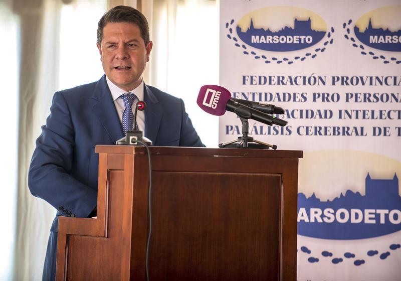 El presidente de Castilla-La Mancha, Emiliano García-Page, en un acto.