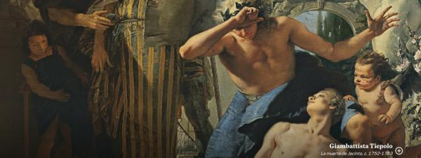 Giambattista Tiepolo. La muerte de Jacinto, c. 1752-1753. Museo Thyssen.
