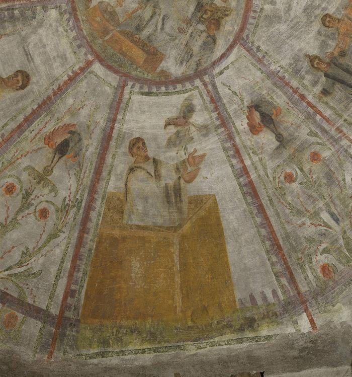 El láser devuelve el esplendor a los frescos de las catacumbas de Domitila