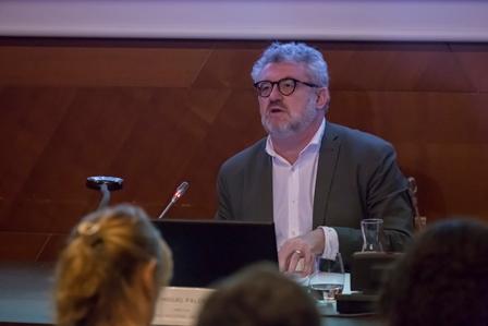 Miguel Falomir, director del Museo del Prado, durante la presentación del programa del Bicentenario