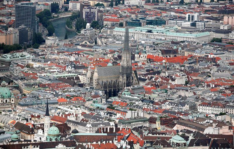 Vista general del centro de Viena (Austria)
