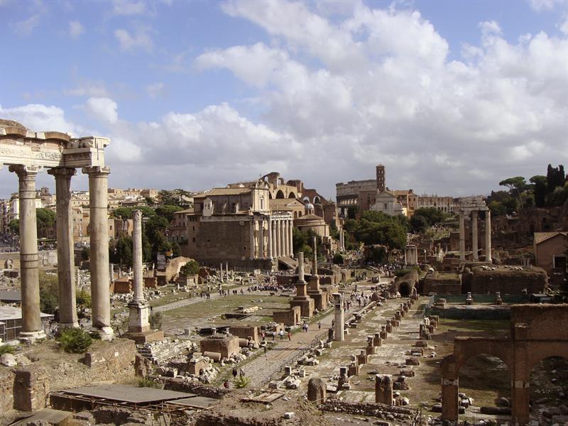 El Palatino, el barrio más elegante de la Roma antigua.