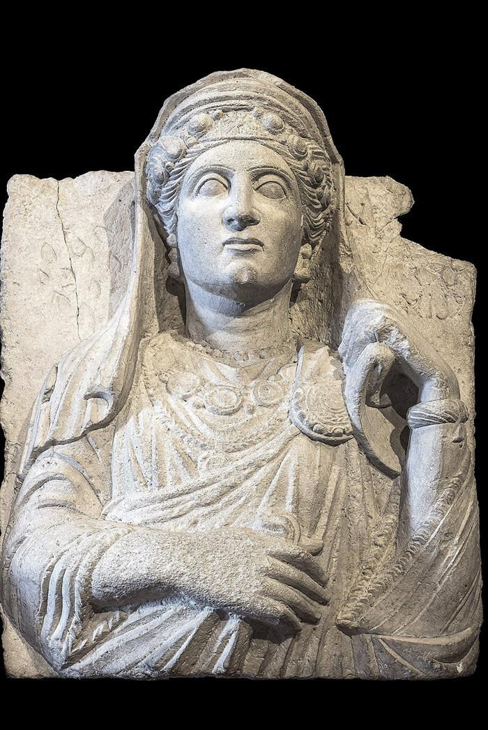 Diferentes relieves funerarios de la ciudad de Palmira.