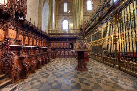 Conjunto del coro de la Catedral Nueva de Plasencia