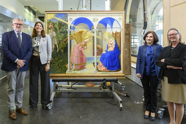 Canal Patrimonio._ Restauración obra Fra Angelico_ Museo del Prado