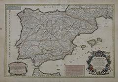Canal Patrimonio_ Mapa correo de postas Península Ibérica_ BNE