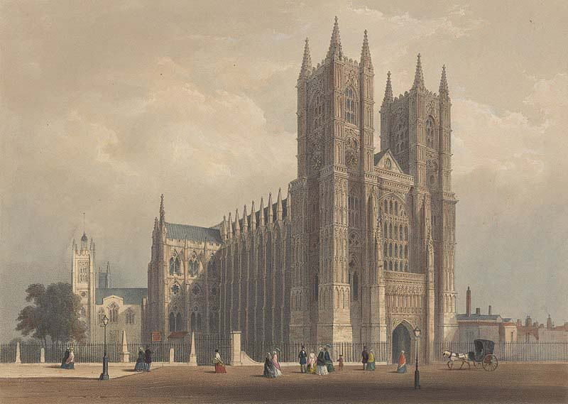 Litografía de la Abadía de Westminster, Wikimedia