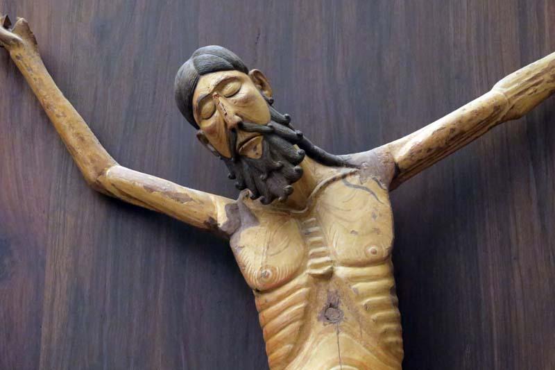 Detalle del Cristo de Siresa