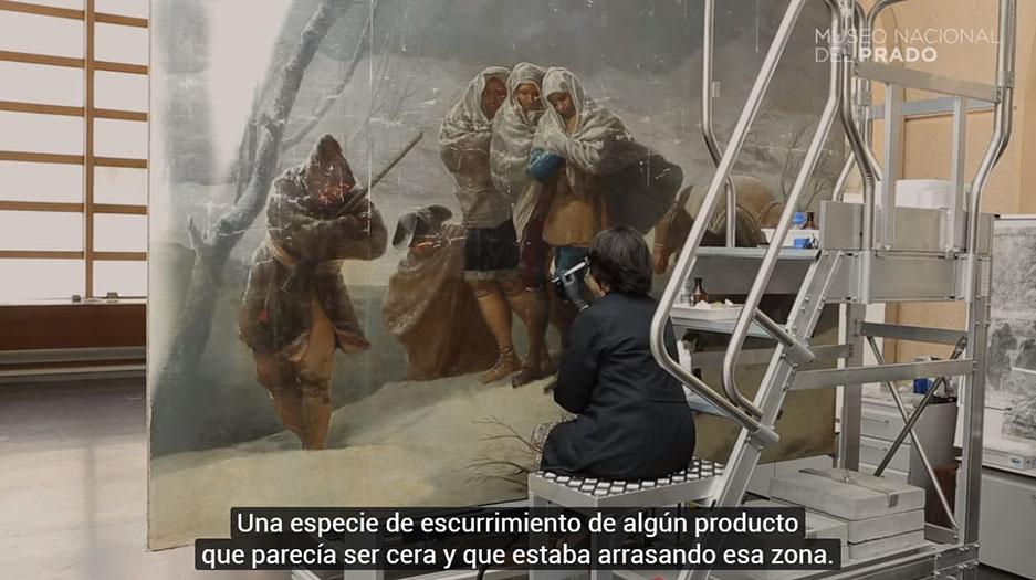 """VÍDEO: Restauración: """"La Nevada"""" o """"El Invierno"""" de Francisco de Goya"""