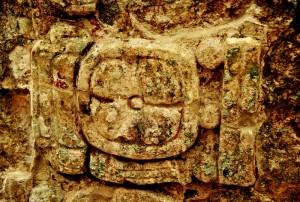 Detalle Estela 1- Origen Antigua Ciudad Chactún- Mexico- INAH