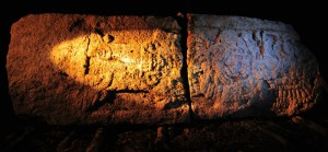 Detalle Estela 1- Origen de Antigua Ciudad Maya Chactún- México- INAH